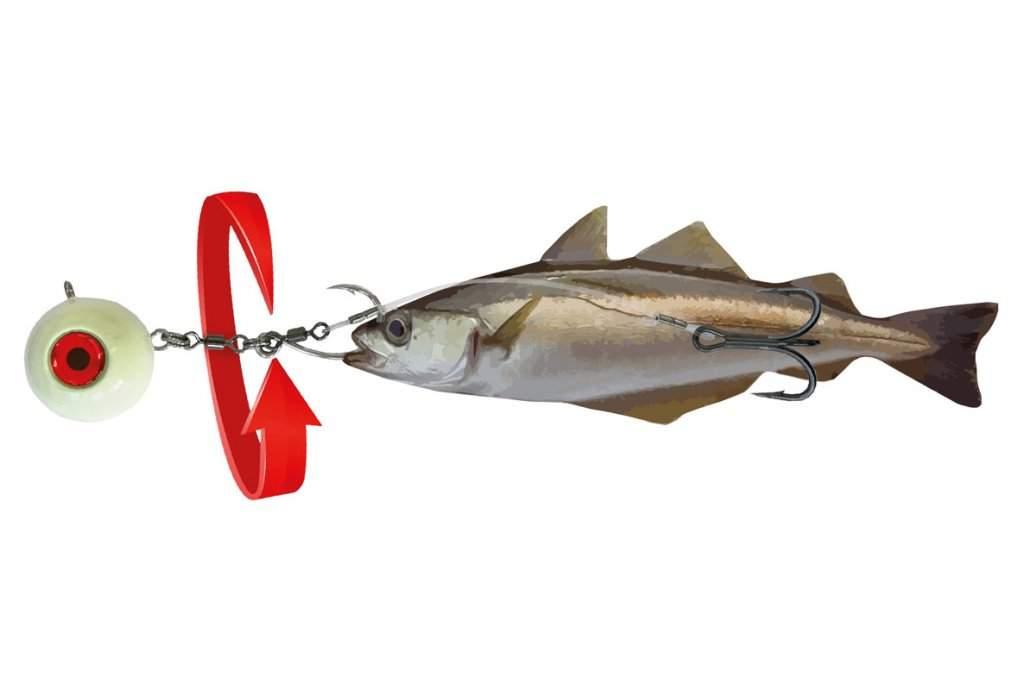 Оснастка морская под мертвую рыбку Spro SB Halibut Bait 360 Rig 150 грамм