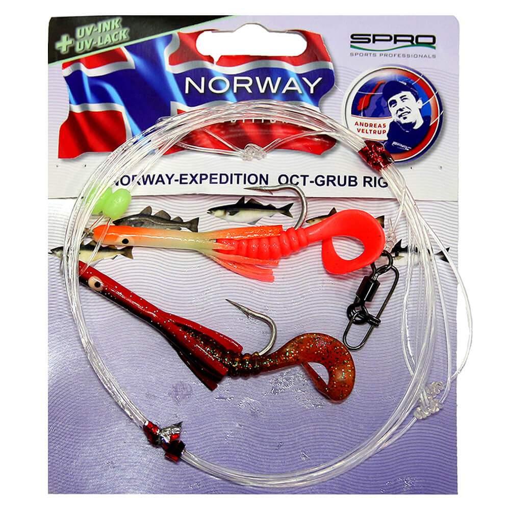 Оснастка Для Норвегии Spro Norway Exp Oct-Grub Rig1 6 1.0/1.0mm 220cm