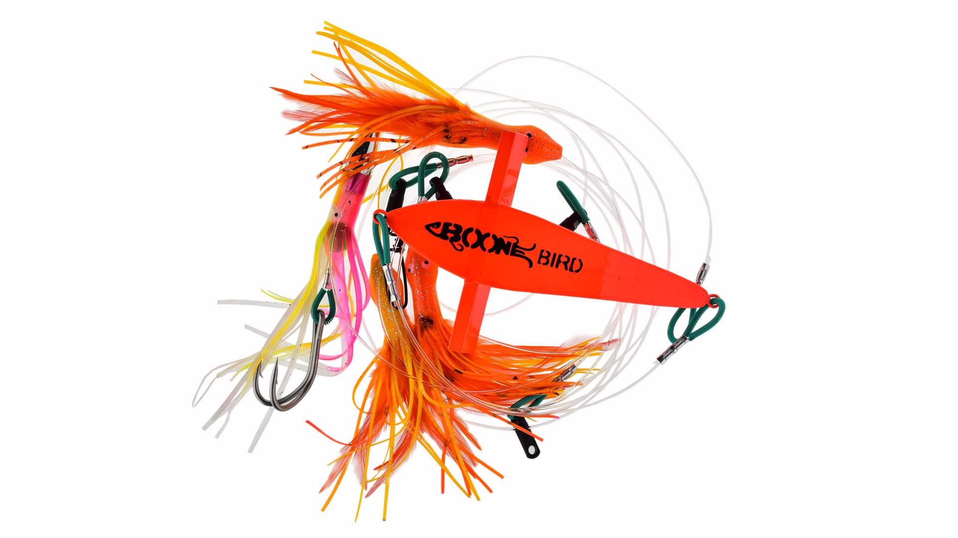 Набор тролинговый Летучая рыба и 4 приманки Boone Mahi Jet multicolor