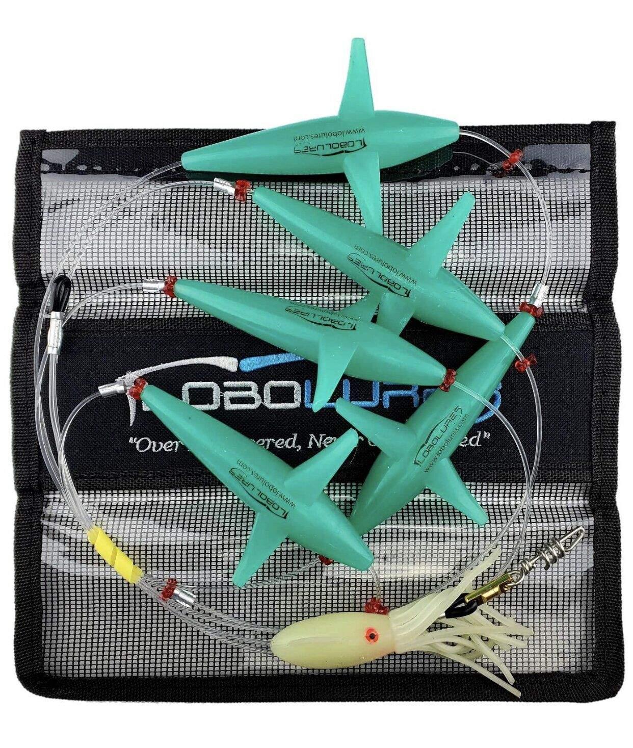 Набор летучих рыб с кальмаром Lobo Lures Tuna Teaser Bird Daisy, 400-500lbНовый товар