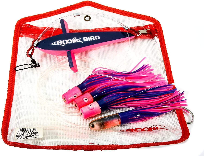 Троллинговая оснастка Летучая рыба + октопусы Boone Bird Trolling Blue/Pink, 7-Inch