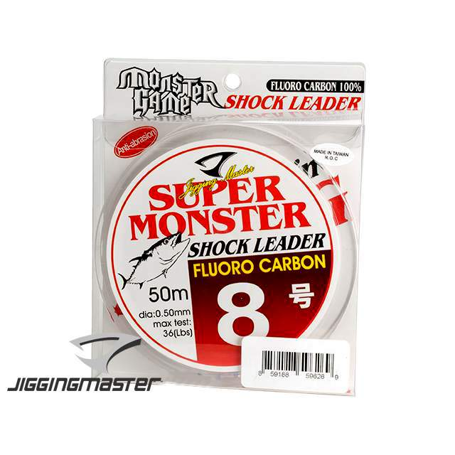 Леска (Шок лидер) Jigging Master Super Monster 100% Fluorocarbon line 50M