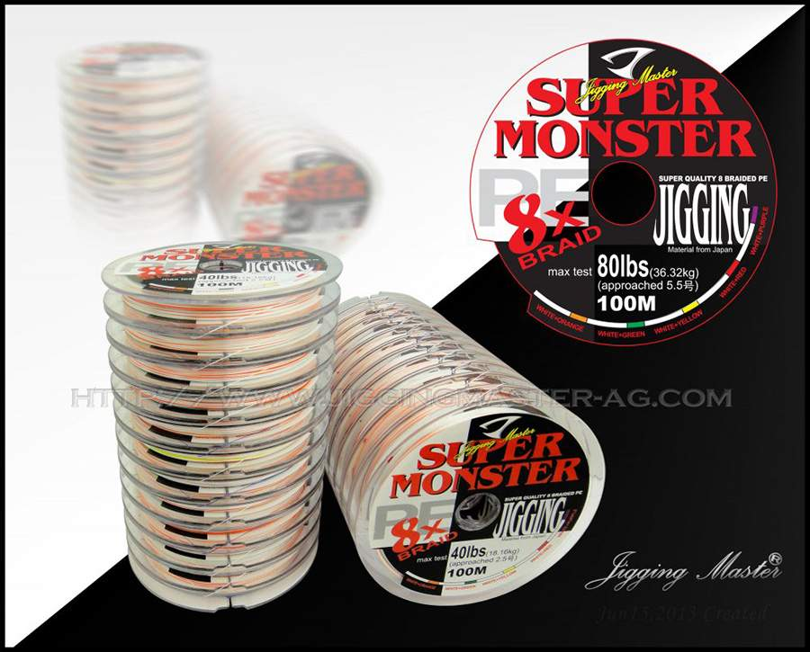Шнур Jigging Master Super Monster PE Line x8 braid от 100m